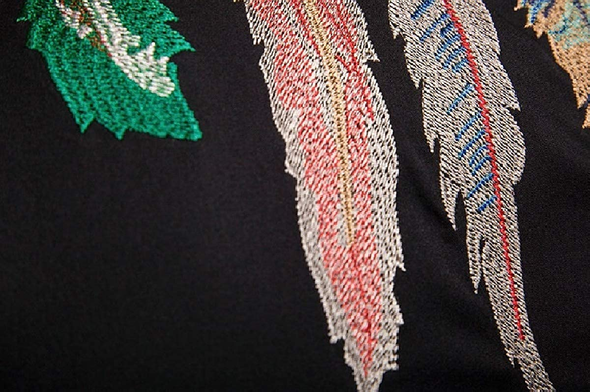 Sebaby Mens Fine Cotton Regular Fit Embroidered Business Slim Woven Shirt