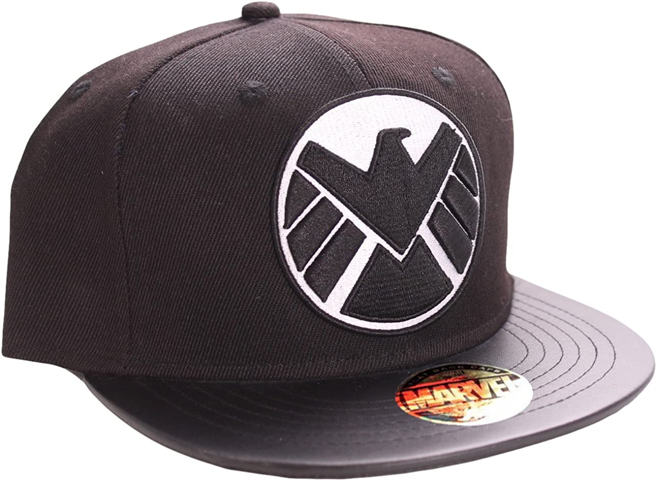 Marvel The Shield-Logo Gorra, Negro (Schwarz), única (Talla ...