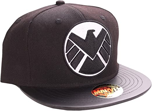 Marvel The Shield-Logo Gorra, Negro (Schwarz), única (Talla ...