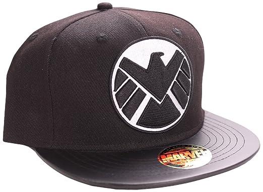 Marvel Agents of S.H.I.E.L.D. Logo and Emblem Snapback Cap (Black ... d1653064ade