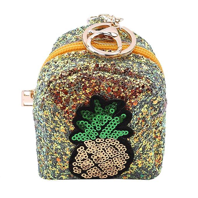 Amazon.com: NIKOLay - Monedero de piña con lentejuelas ...