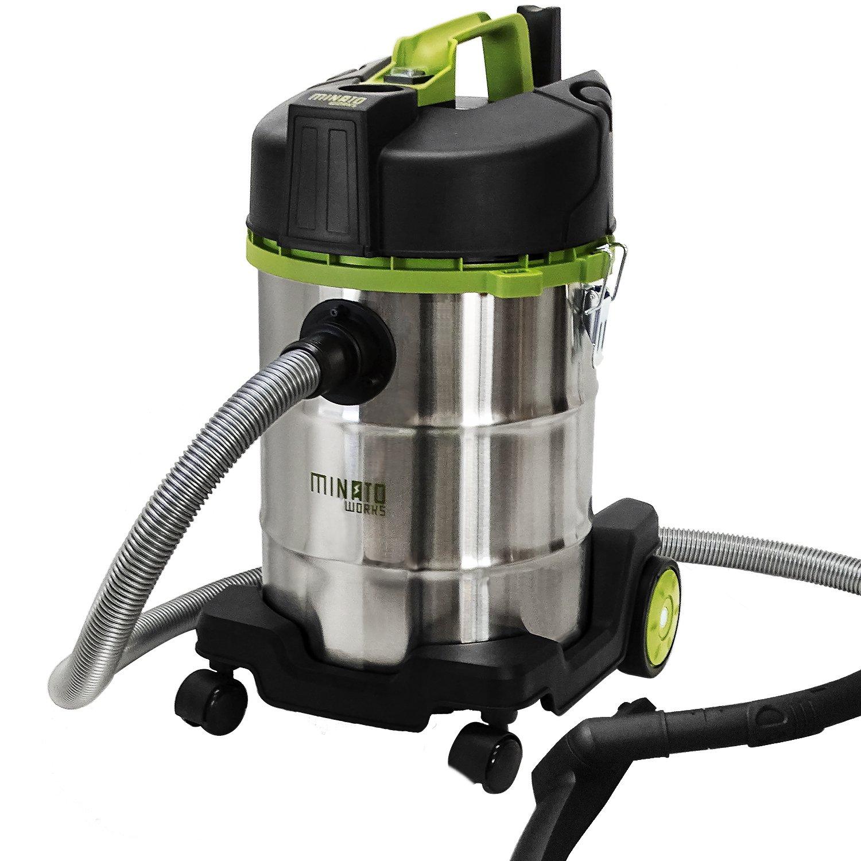 ミナト 乾湿両用 業務用掃除機 バキュームクリーナー MPV-301 (容量30L/コード10m+ホース2mのロング仕様) B071H275QMMPV-301単品