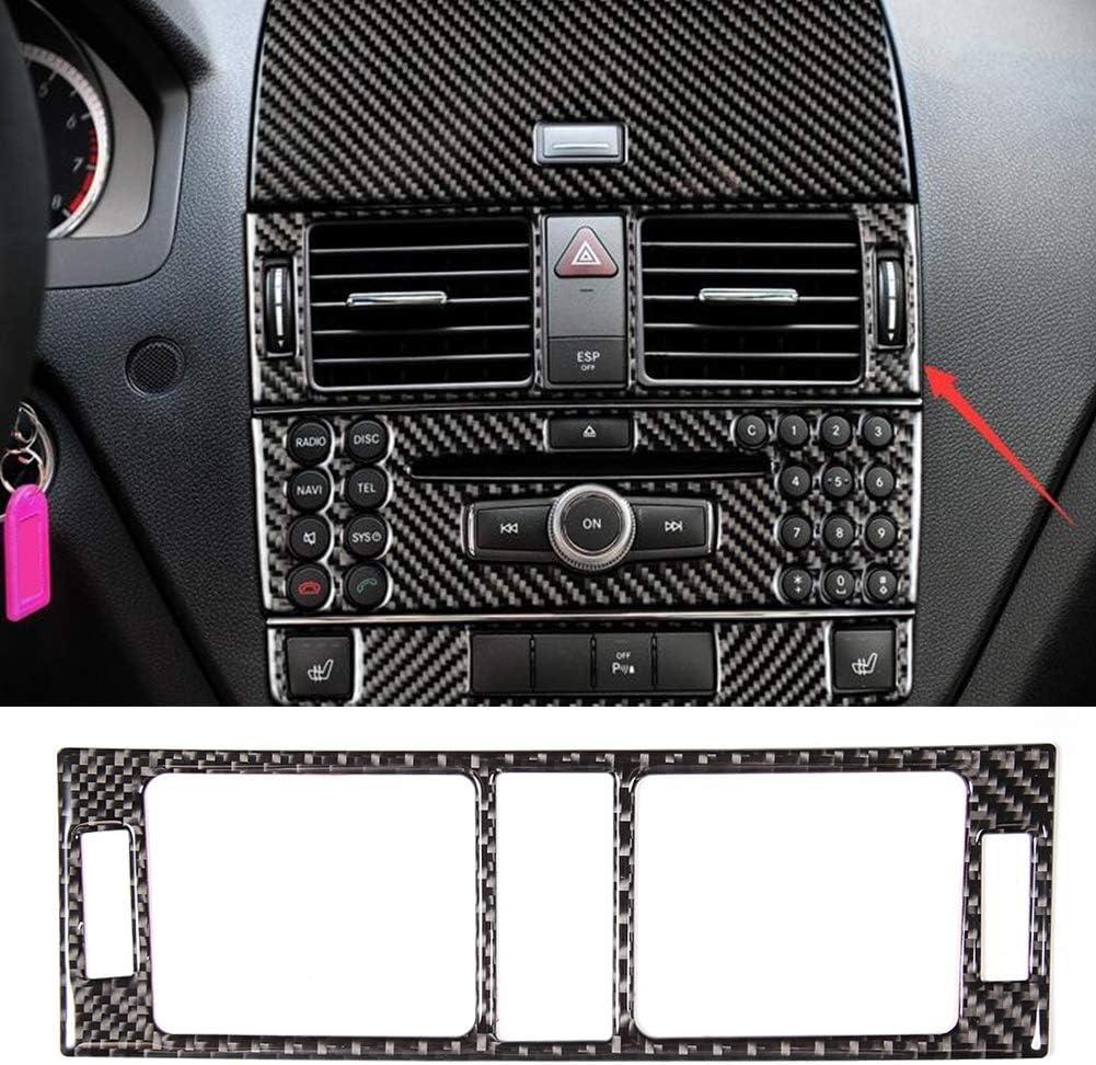 garniture int/érieure de voiture en fibre de carbone adapt/ée /à la classe C W204 05-12 Garniture de panneau da/ération dair de console centrale A//C