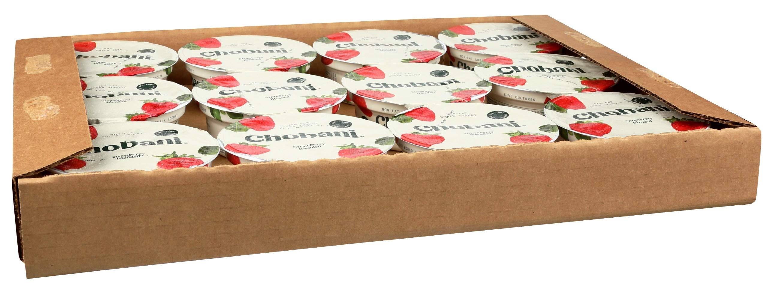 Chobani Strawberry Yogurt, 4 Ounce -- 12 per case.