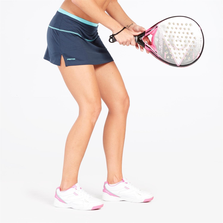 Falda Tenis Azul Marino Turquesa Mujer Proton (Talla: S): Amazon ...