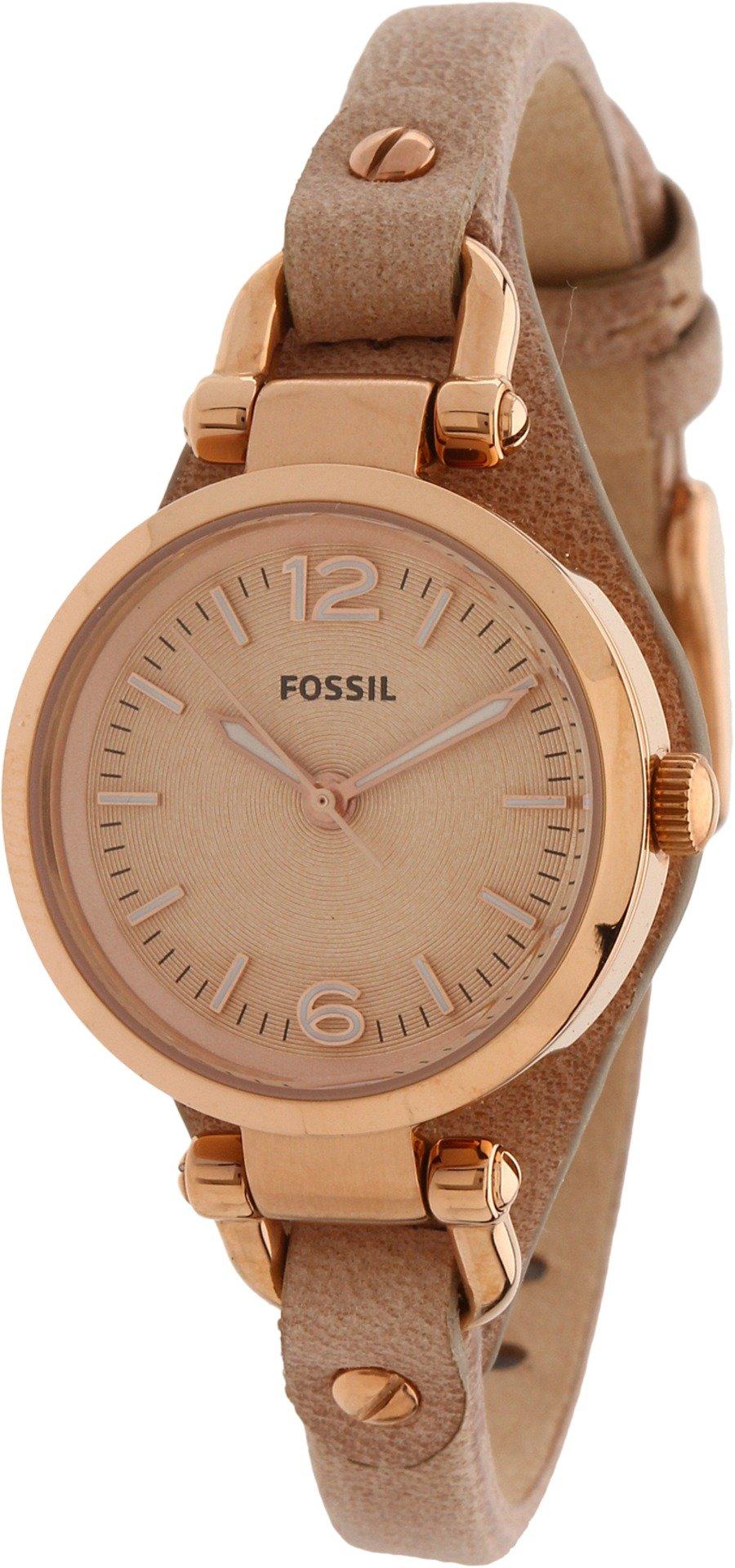 Fossil Women's ES3262 Georgia Mini Three Hand Leather Watch - Sand