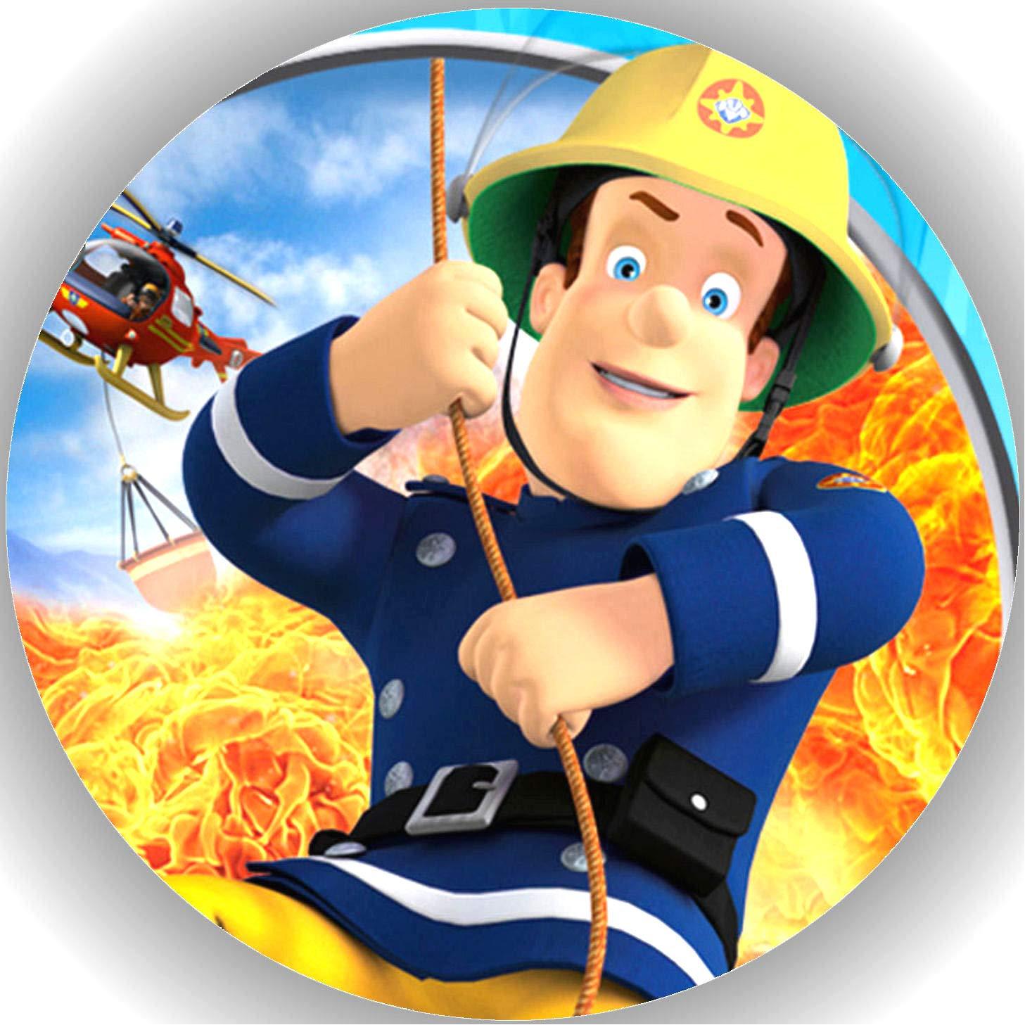 Tortenaufleger Geburtstag 20 x 28 cm DIN A4 Feuerwehrmann Sam  P24