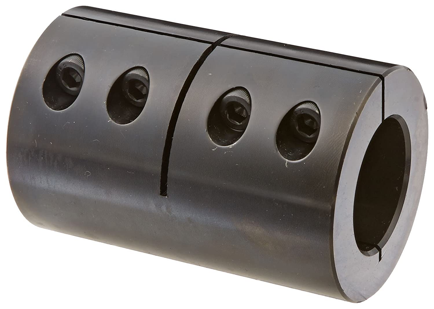 Black Oxide Plating Clamping Coupling 1 1//4 inch X 1 inch bore 2 1//8 inch OD 1//4-28 x 3//4 Set Screw Climax Part CC-125-100 Mild Steel 3 3//8 inch length