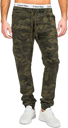 ArizonaShopping - Hosen Pantalones Vaqueros de los Hombres Pantalones Militares de impresión de Camuflaje H1681, Color:Verde, Talla de pantalón:2XL: Amazon.es: Ropa y accesorios