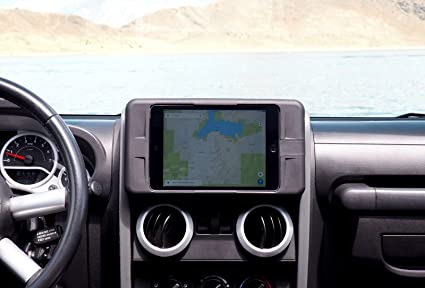 Carrichs | 2007 2010 Jeep Wrangler JK Tablet Dash Mount FOR Apple IPad Mini  1