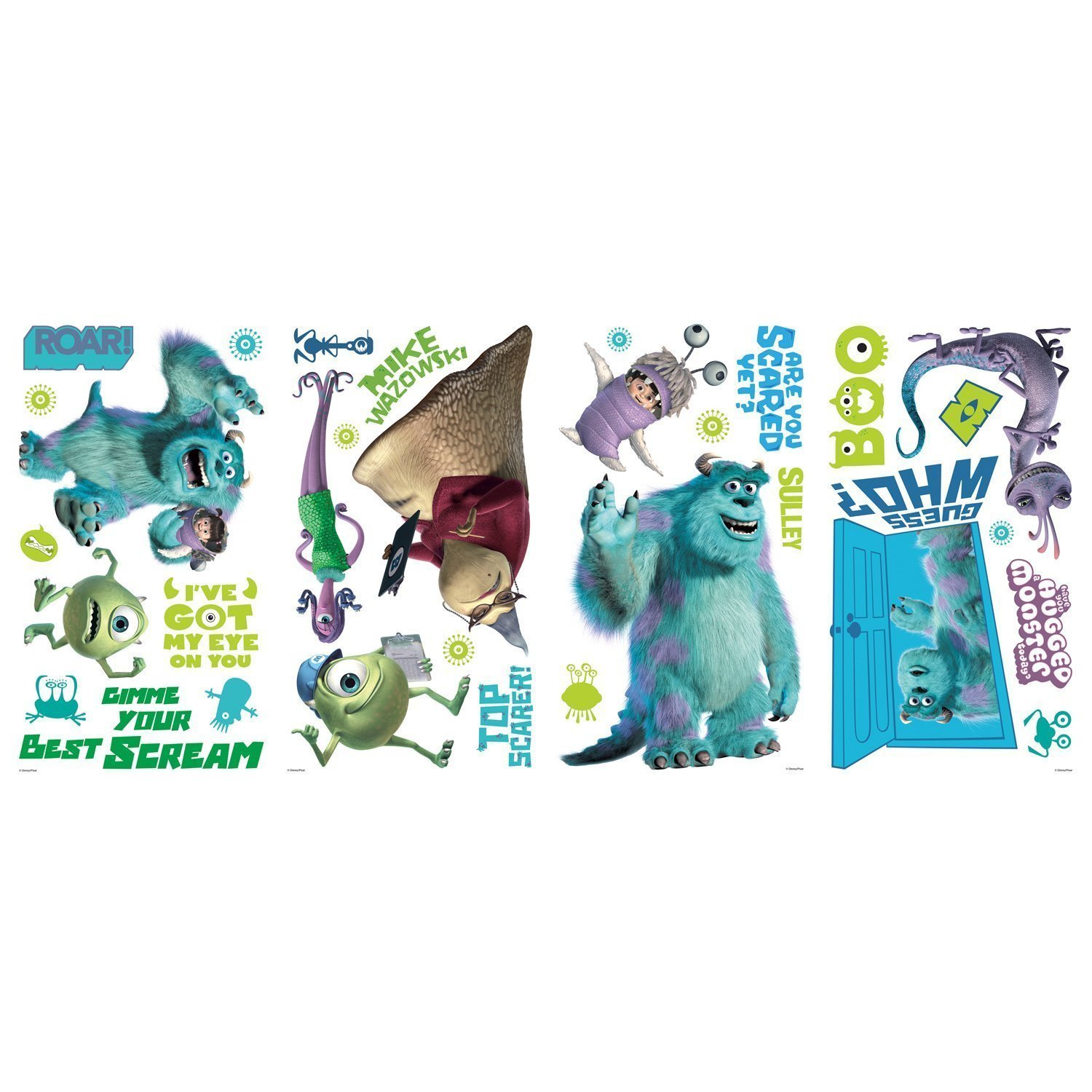 Amazon disney monsters inc 31 big wall decals mike sulley boo amazon disney monsters inc 31 big wall decals mike sulley boo celia room decor stickers home kitchen amipublicfo Choice Image
