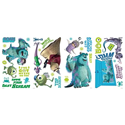DISNEY MONSTERS INC 31 BiG Wall Decals Mike Sulley Boo Celia room decor Stickers