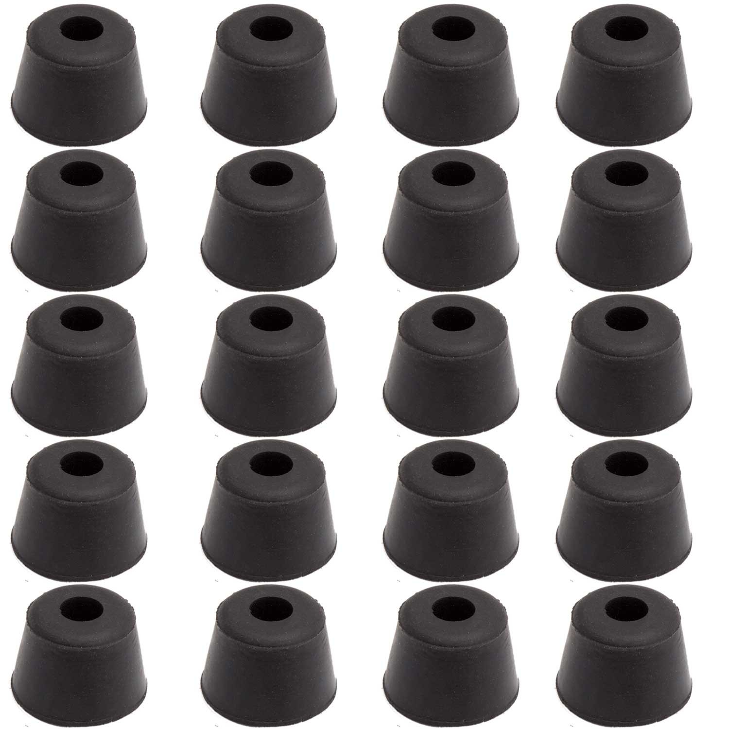 20pcs Round Furniture Pads,ULIFESTAR Rubber Furniture Feet Glides Sliders Carpet Saver Hardwood Floor Protectors Surface Protection for Chair Table Leg Caps Non Slip Furniture Grippers Black 27mm