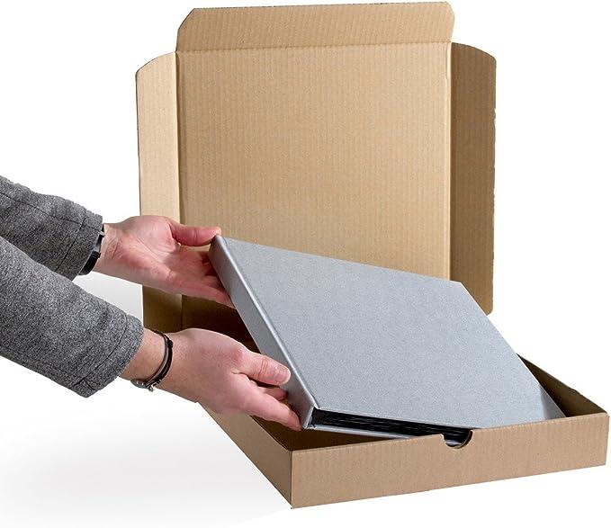 50 boîtes postales extra plates A4 format 305x220x45 mm