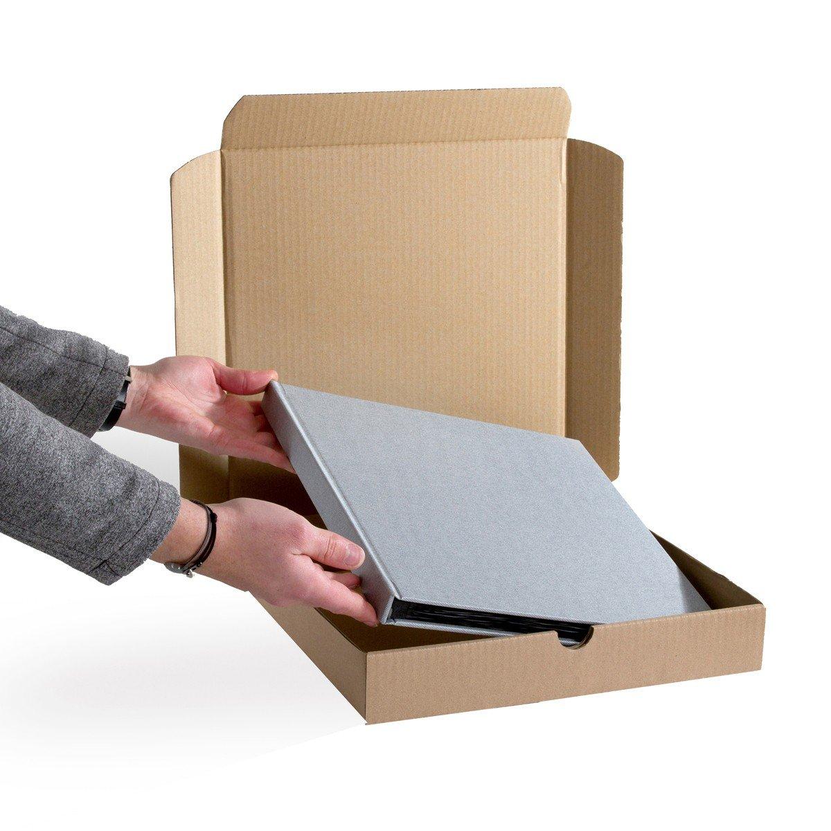 Lot de 10 Boîtes postales extra-plates CARREES format 320x320x50 mm
