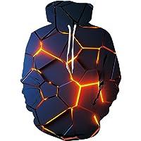 Loveternal Unisex 3D Impresión Gráfico Hoodie Bolsillos Sudadera con Capucha