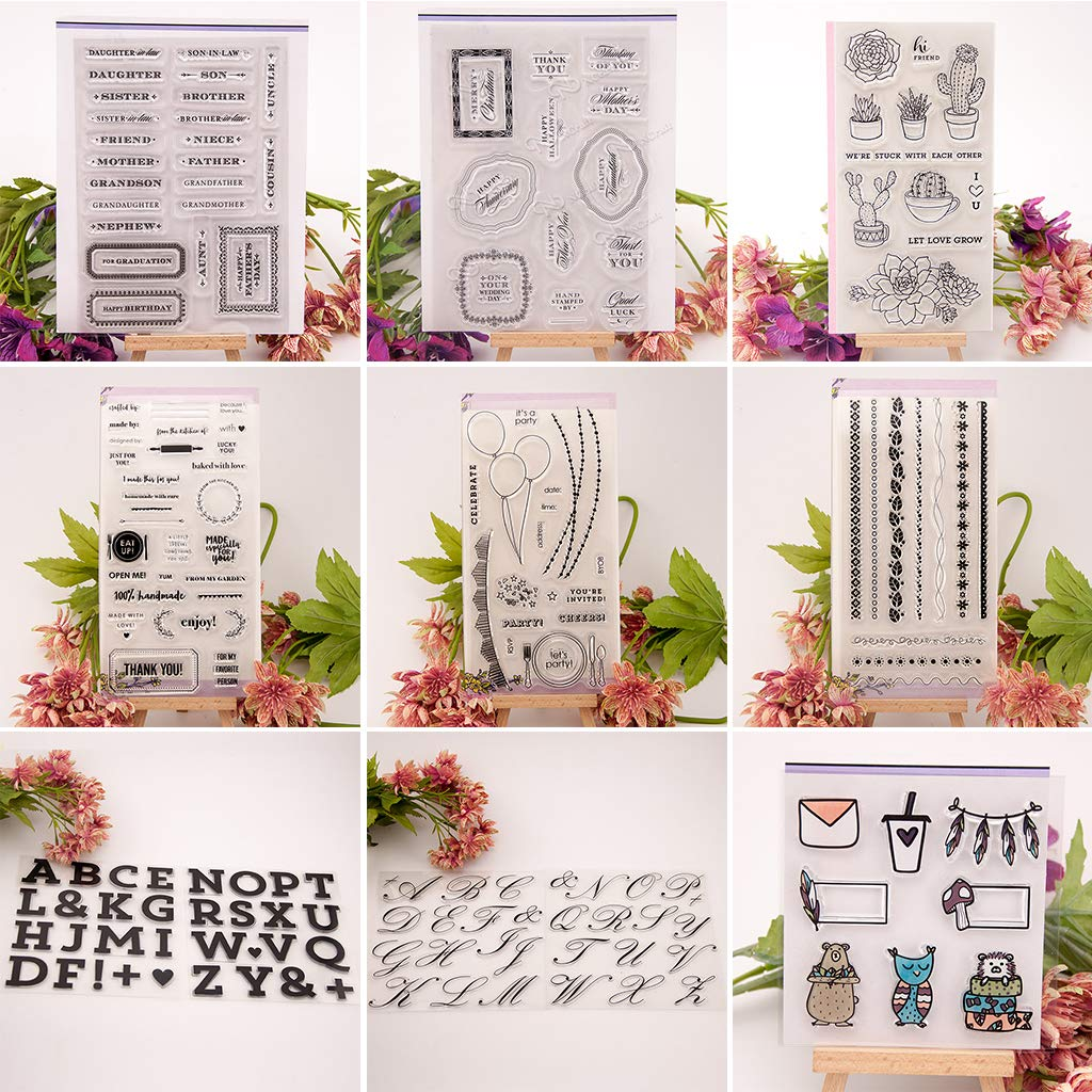Cactus Flower DIY set di timbri trasparenti /Best Halloween Thanksgiving Christmas Gifts trasparente/ /Biglietti e Art Craft/
