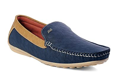 0741ce1c1c0 Prayog Men s Blue Loafers Shoes  Buy Online at Low Prices in India -  Amazon.in