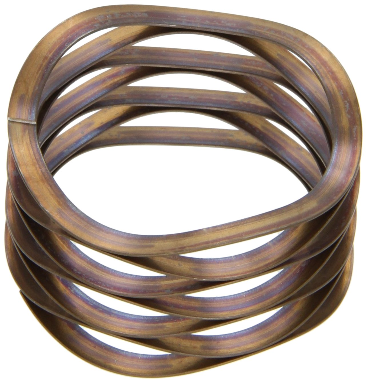 Multiwave Washers, Stainless Steel, Inch, 0.73'' ID, 1'' OD, 0.015'' Thick, 95lbs/in Spring Rate, 25lbs Load Capacity (Pack of 5)