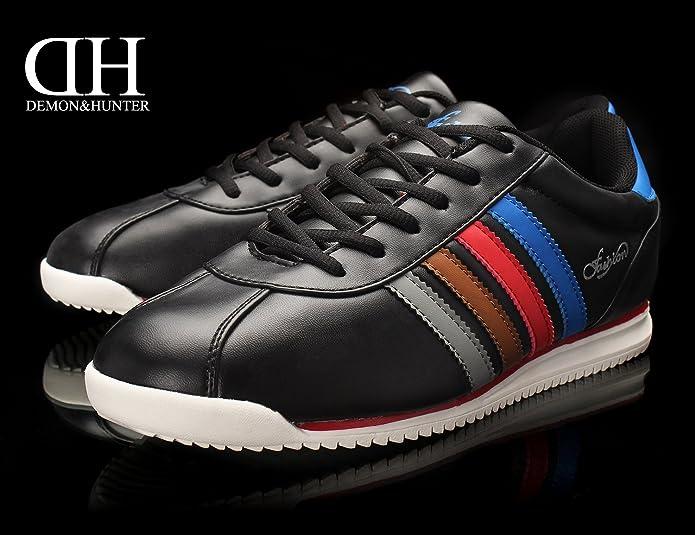 Demon&Hunter Hombre Moda Negro Zapatillas Zapatillas S402689B(EU 42/Etiqueta 43) tj436IWy
