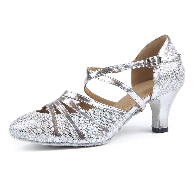 Syrads Chaussures de Danse Latine Femme Chaussures de Danse de Salon pour...