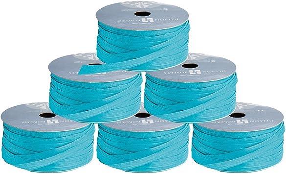 Jillson Roberts Bulk 1000-Yard Spool 1//4 Paper Raffia Turquoise