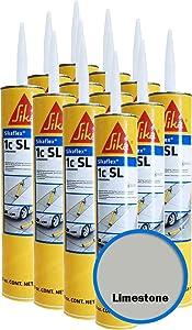 Sikaflex -1C SL High Performance (29 0z), Self-Leveling Polyurethane Sealant - Case of 12 Cartridges in Limestone