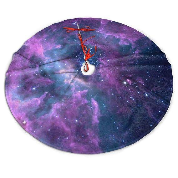 WU4FAAR - Falda para árbol de Navidad, diseño de Galaxia, Color ...