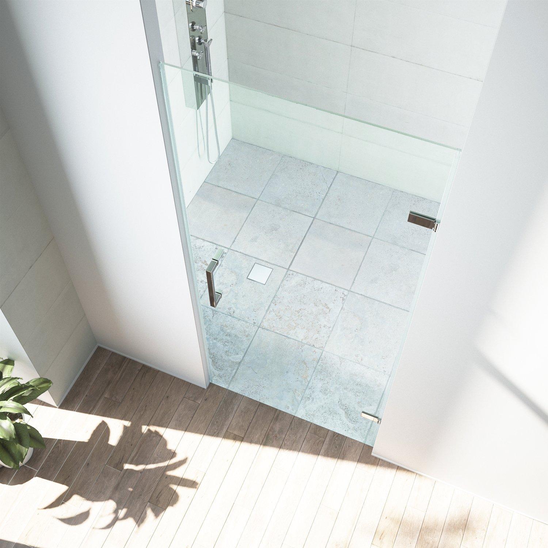 VIGO SoHo 28 to 28.5-in. Adjustable Frameless Shower Door with .3125 ...