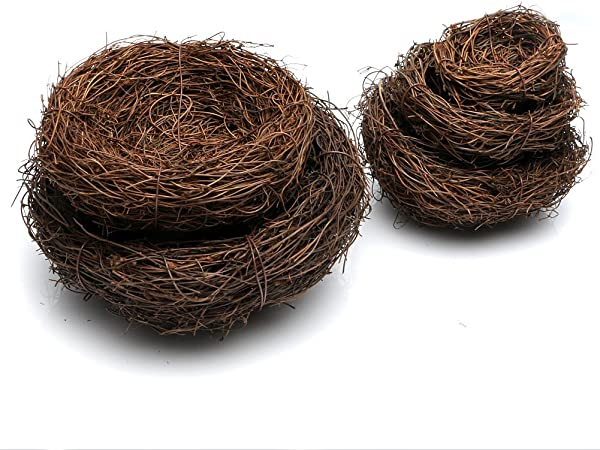 Brown 3-Piece Mini Craft Twig Birds Nests 2-1//2-Inch