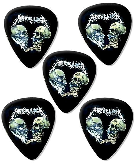 Metallica Skulls Premium Guitarra Púa Para Picks x 5: Amazon.es ...