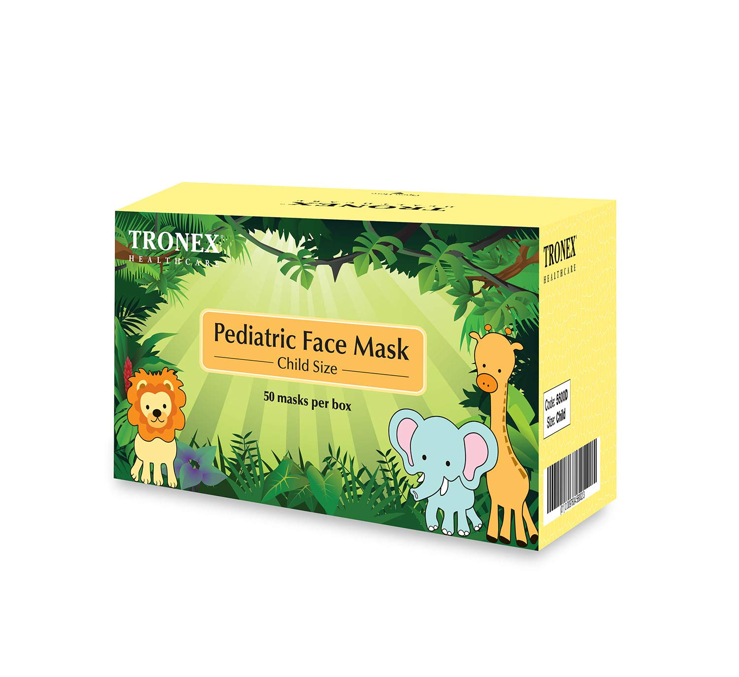 Tronex Child Procedure Face Mask, Dotted (Case of 600)