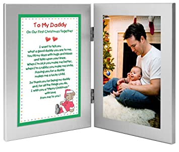 poetry gifts new dad to my daddy on our first christmas together add photo