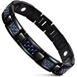 """JFUME 18K Gold Natural Pain Relief Magnetic Therapy Link Bracelet For Arthritis and Joint Pain,Men 8.5"""""""