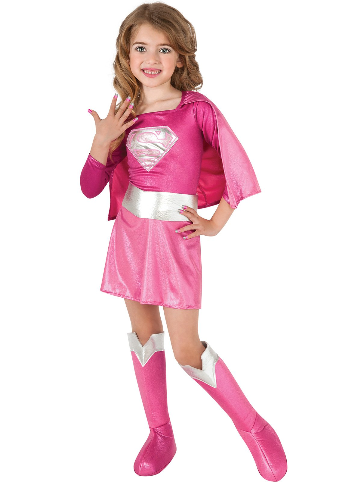 - 71IpUuf1LEL - Rubie's Pink Supergirl Child Costume