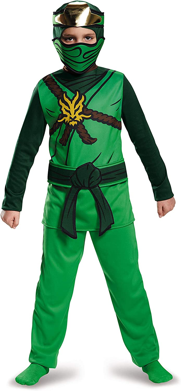 LEGO Ninjago Movie- Classic Lloyd Disfraz, Color verde, large ...
