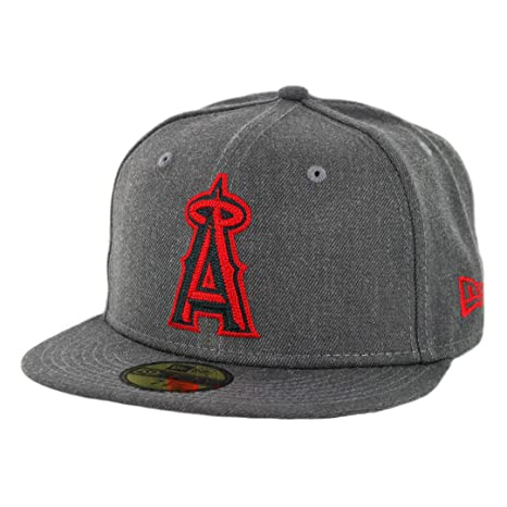 huge selection of 6c620 c68cc Image Unavailable. Image not available for. Color  New Era 59Fifty Anaheim  Angels Heather Crisp ...