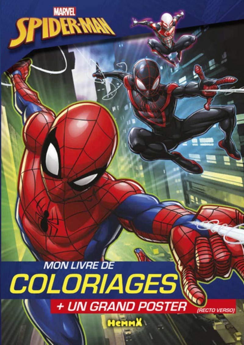 Amazon Com Marvel Spider Man Mon Livre De Coloriages Un Grand Poster Coloriage Poster French Edition 9782508037894 Marras Anthony Books
