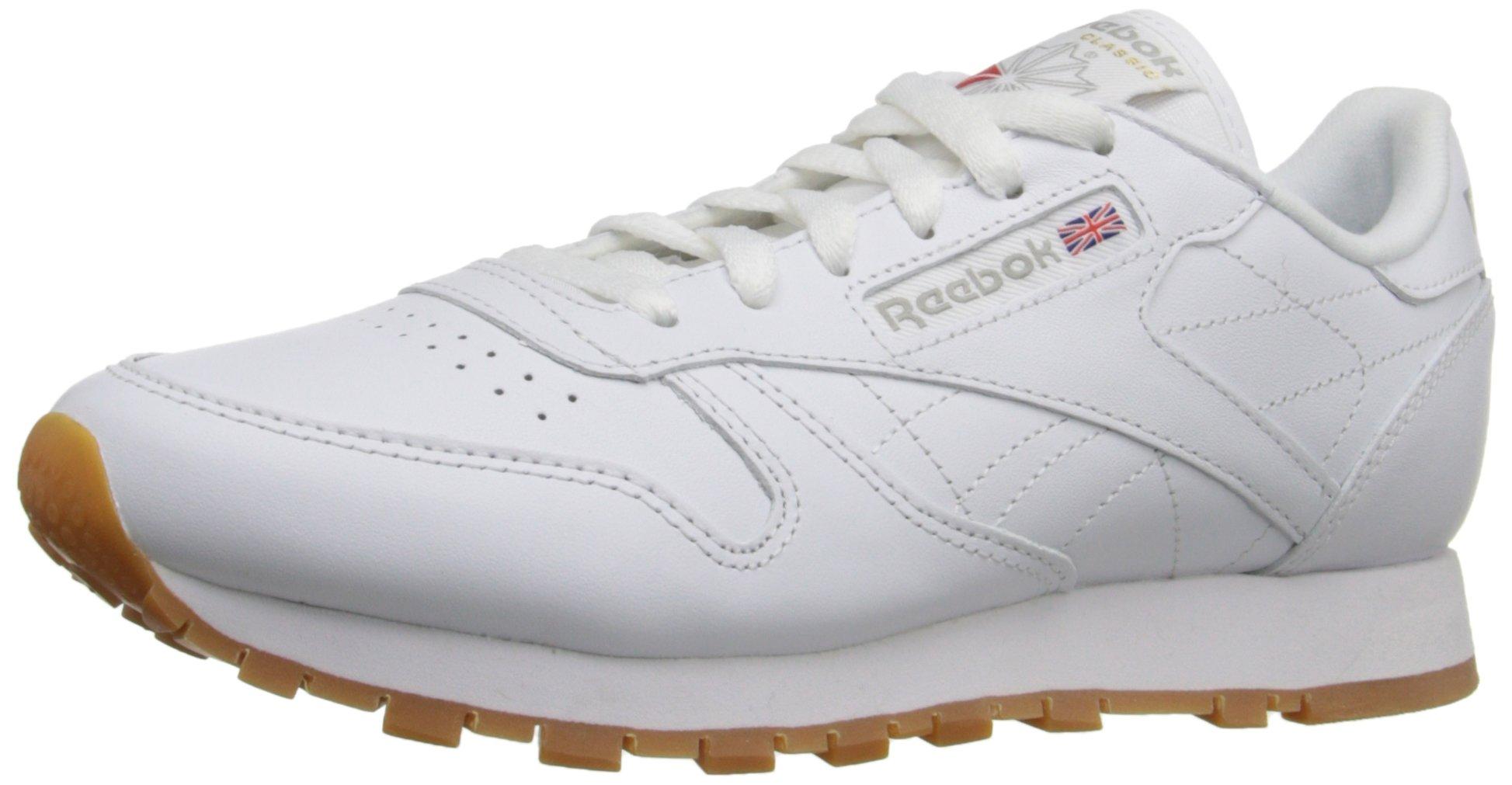 Reebok Women's CL Lthr Sneaker, Us-White/Gum, 6.5 M US