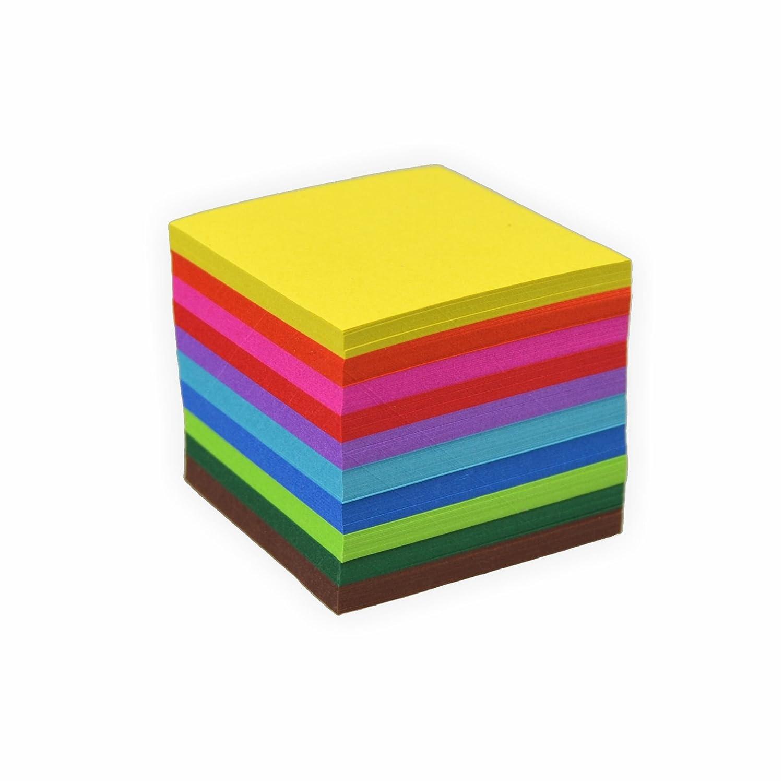 colori assortiti hochwertiges faltpapier per origami e creativo per creare progetti 10 x 10 cm Creleo pieghevole foglie