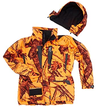 fe9a5e93bd235 Browning XPO Big Game Hunting Jacket Camo/Blaze: Amazon.co.uk: Sports &  Outdoors