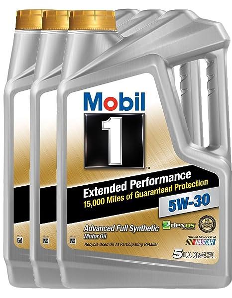 Mobil 1 (120766 – 3PK) Extended rendimiento 5 W-30 Aceite de motor