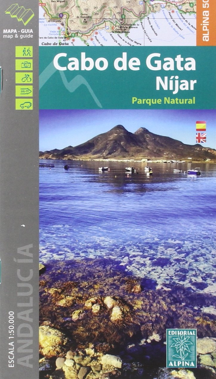 Cabo De Gata Mapa.Cabo De Gata Nijar Amazon Co Uk Editorial Alpina S L