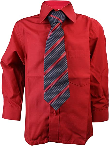 Gorgeous - Camisa - Clásico - Manga Larga - para niño, Rosso, 2 ...