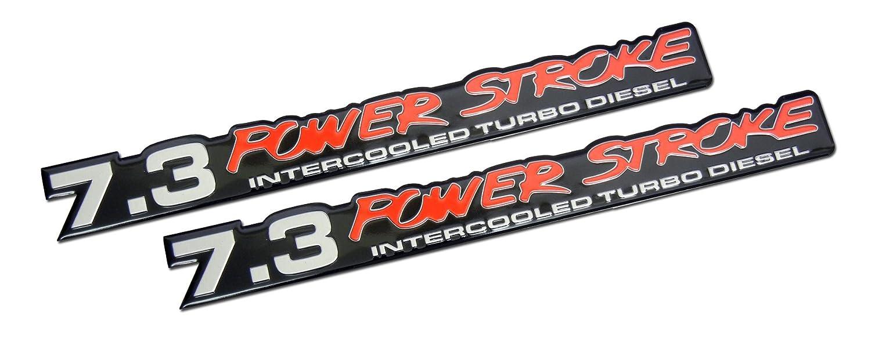 Amazon 73 Liter Ford Truck Van Powerstroke Turbo Diesel Aluminum Emblems