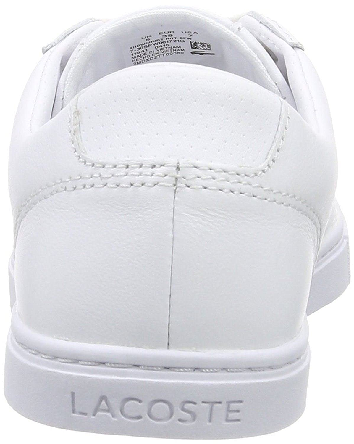 df77a8dbfc4bf Lacoste Snowcourt RQT White Leather Womens Trainers Shoes  Amazon.co.uk   Shoes   Bags