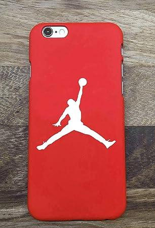 Toxdi Air Man Logo iPhone 6/6S Funda, Carcasa Silicona Protector Anti-Choque Ultra-Delgado Anti-arañazos Case Caso para Teléfono iPhone 6/6S (Rojo)