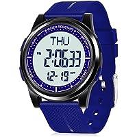 WIFORT Reloj Digital Hombre Mujer,5ATM Impermeable Esfera Grande Ultra Delgado con Cronómetro Cuenta Regresiva Alarma…