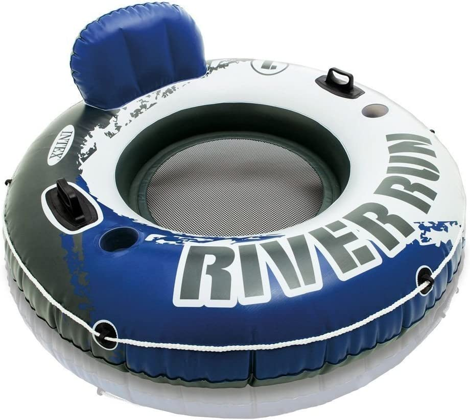 Intex River Run Inflatable Floating Tube Water Raft for Lake River Pool 2 Pack