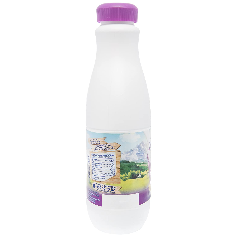 Central Lechera Asturiana Leche Sin Lactosa Semidesnatada - Paquete de 6 x 1500 ml - Total: 9000 ml: Amazon.es: Alimentación y bebidas